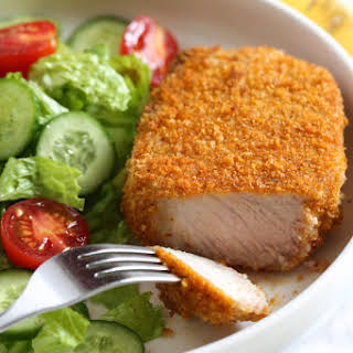 Crispy Breaded Pork Chops in the Air Fryer.