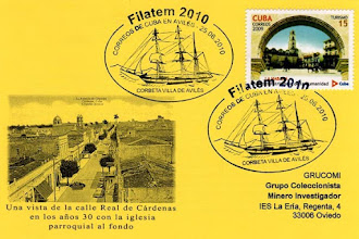 Photo: Matasellos cubano emitido durante la Filatem 2010