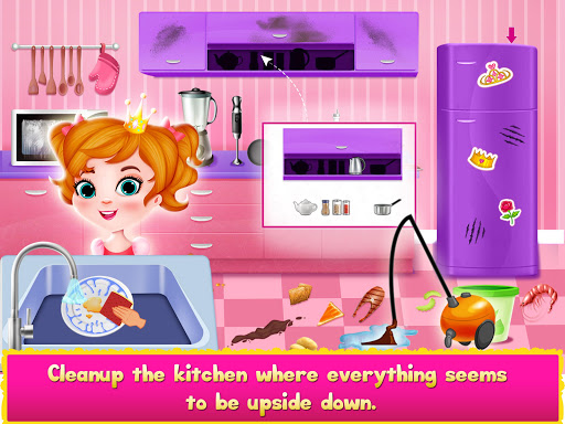 Princess Doll House Cleanup & Decoration Games screenshots 6