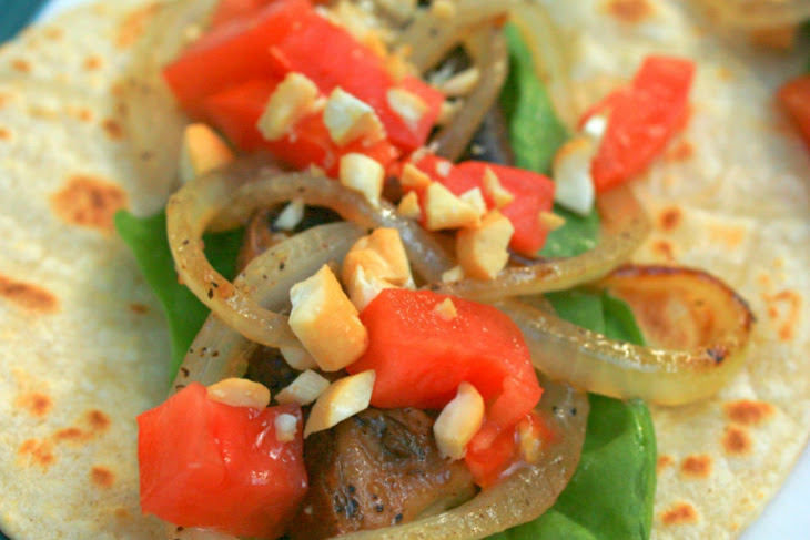 Balsamic Portobello Cashew Tacos [Vegan, Gluten-Free] Recipe