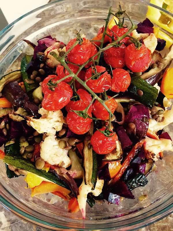 Lentil And Roast Vegetables Salad Recipe