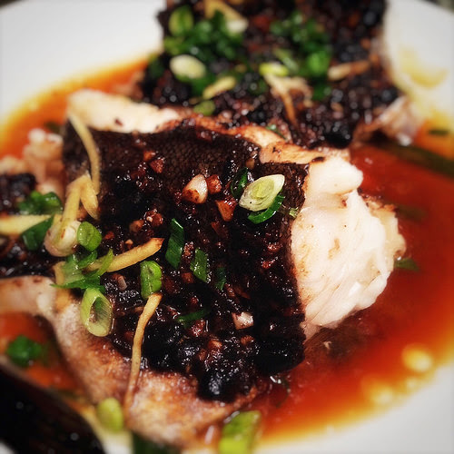 Chinese steamed fish with black bean sauce chinese black bean garlic sauce black bean sauce chinese classic recipe steamed forumfinder Image collections