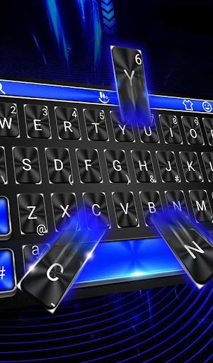 Download Cool Blue Light Keyboard Theme MOD APK 1