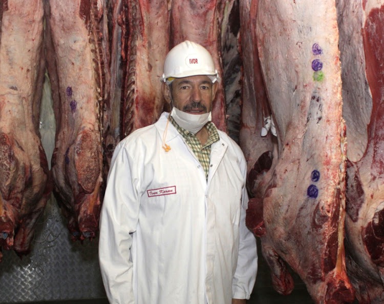Ivor Karan of Karan Beef at the company's farm in Balfour on Wednesday. Picture: PUXLEY MAKGATHO