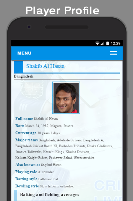 Today Cricket Live scores- screenshot