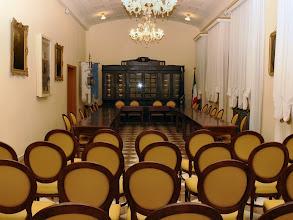 Photo: La Sala del Consiglio comunale di S. Giorgio di Piano, restaurata recentemente