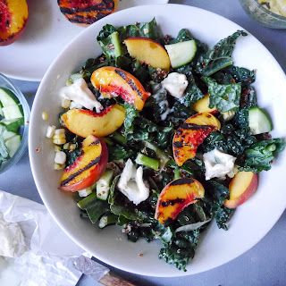 Grilled Peach, Kale, and Quinoa Salad