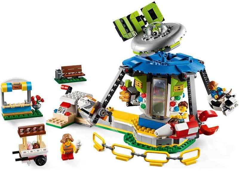 Contenido de Lego® 31095 Tiovivo de la Feria