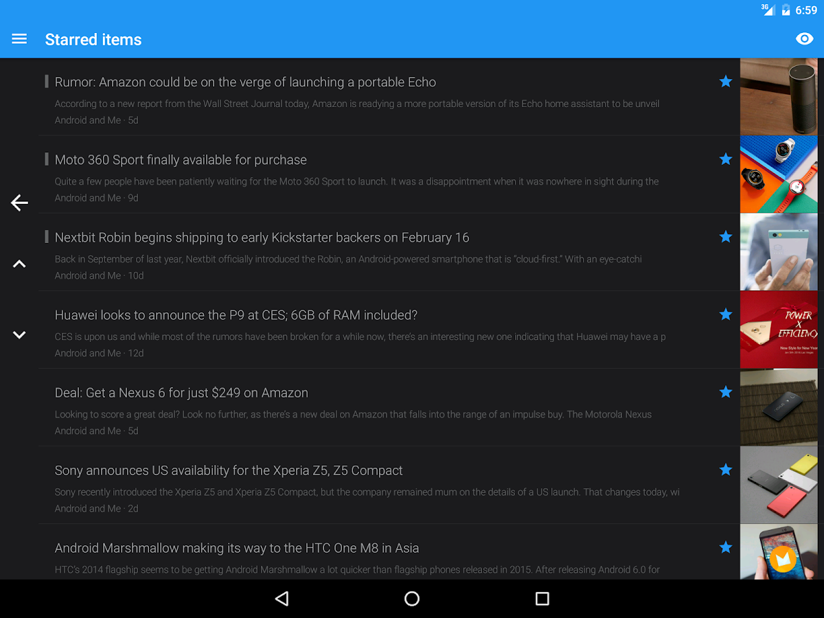 FeedMe (RSS Reader)- screenshot