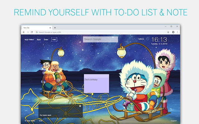 Doraemon Wallpaper HD Doraemon New Tab