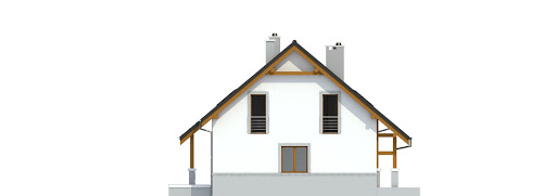 Gajówka bez garażu bliźniak B-BL1 - Elewacja prawa