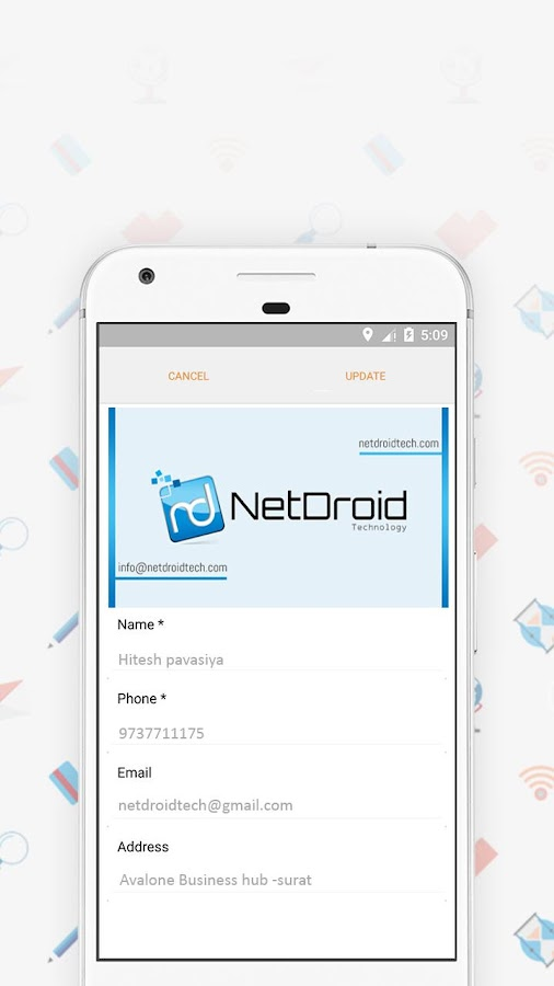 Business card holder vault app android apps on google play for Business card storage app