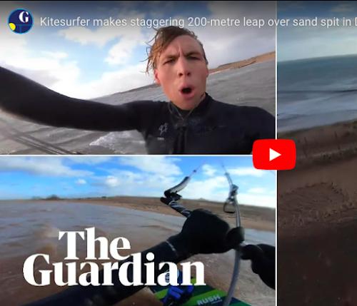 Devon kitesurfer and FlySpain student pilots makes mega jump
