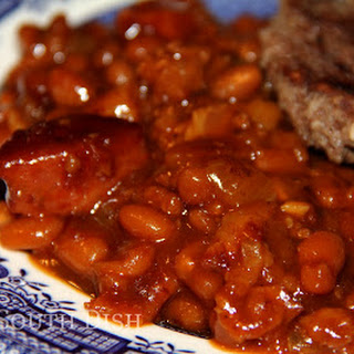 Spicy Meat Trio Barbecue Baked Beans