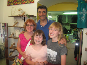 Photo: Us with the sandal maker