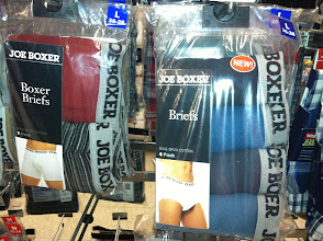 Photo: As much as I loved the MaLo colored underwear, I wanted to see if other brands had similar colors. Joe Boxer had some colors but not nearly as pretty as MaLo.
