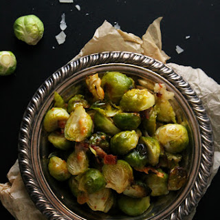 Roasted Bacon Parmesan Brussels Sprouts #DArtagnanFeast