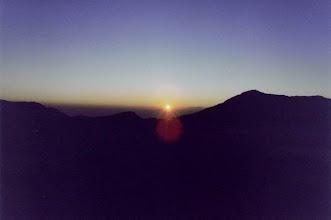 Photo: Lever de soleil sur le volcan Bromo dans l'île de Java