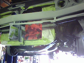Photo: 69 runner 4speed masking under way for final paint