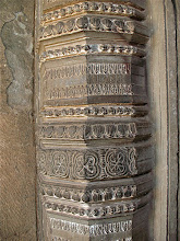 Photo: carved stone post, Phimai