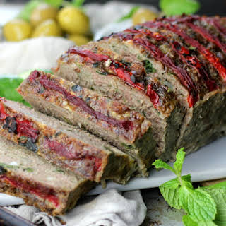 Greek Meatloaf with Feta Cheese and Mint.