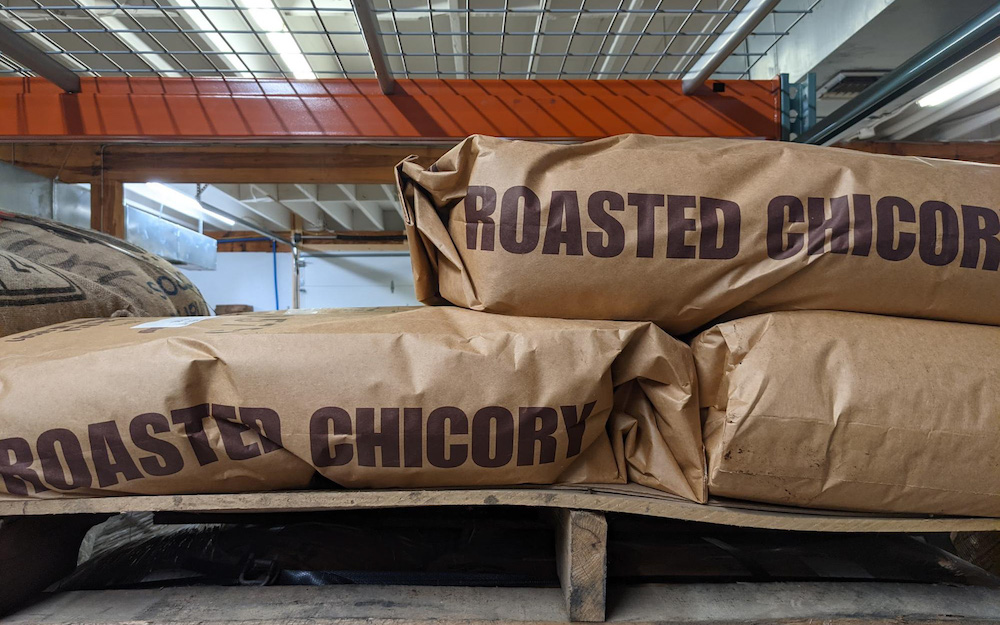 bags of roasted chicory