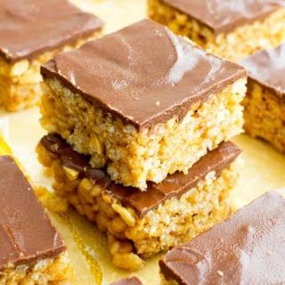 Chocolate Peanut Butter Rice Crispy Treats (Vegan, Gluten Free, Dairy Free)