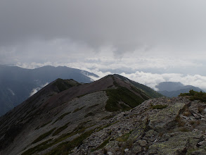 山頂から東尾根
