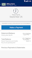 Screenshot of Amex Mobile