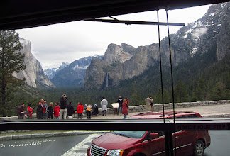 Photo: Touristy or not (and there are reasons for the treasured visits from hordes of us), this view of Tunnel View from the bus gives an idea of what the view is like when first arriving and seeing it.    In the past, people 'discovered' this view in other ways. People are also an important part of life, so I like seeing (a few) OTHER tourists who are loving a place.