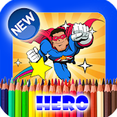 Easy Superhero Coloring Page