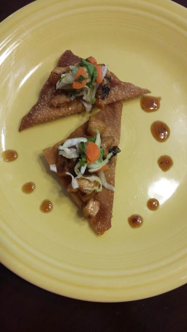 Sweet & Spicy Asian Chicken Won Tons Recipe