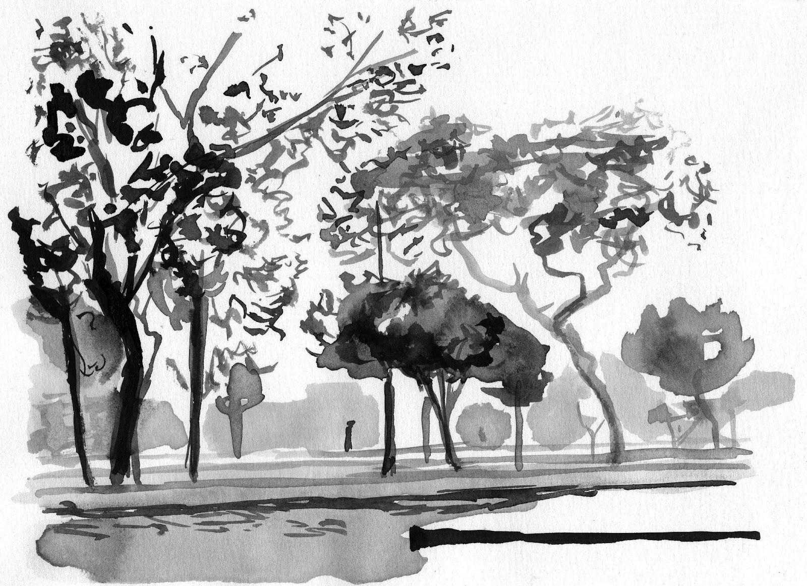 Resultado de imagen de paisajes a tinta china