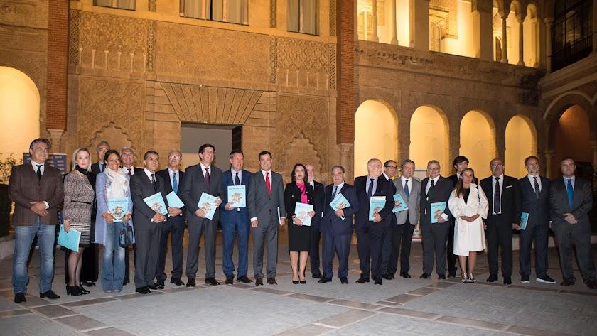 Asistentes a la presentación de 'Ser Andaluces' en el Alcázar de Sevilla.
