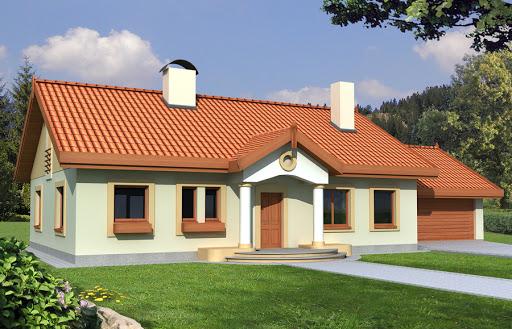 projekt Sielanka 30 st. wersja A dach 2-spadowy z podwójnym garażem