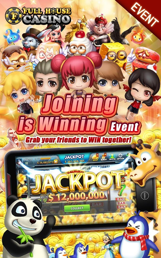 full house casino lucky jackpot slots poker app