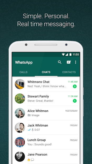 WhatsApp Messenger Android App Screenshot