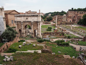 Photo: View of the forums from the Capitoline Museum. Why did I forget how much cooler and uncrowded the forum is in the evening. Definitely we should have toured this later in the day.