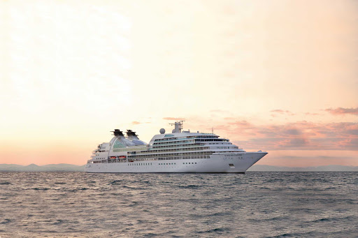 Seabourn-Sojourn-at-sea - Seabourn Odyssey carries 450 guests on wide-ranging itineraries, including the Mediterranean, South Pacific, Asia, Middle East and elsewhere.