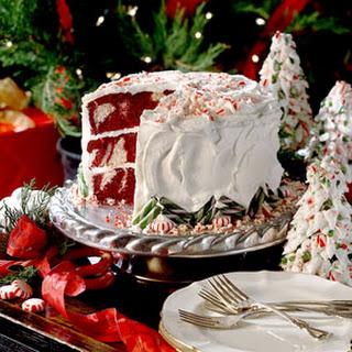 Red Velvet Peppermint Cake.