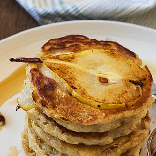 Pear, Pecan and Ginger Pancakes