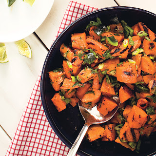 Sweet Potato and Poblano Salad with Honey and Rosemary.