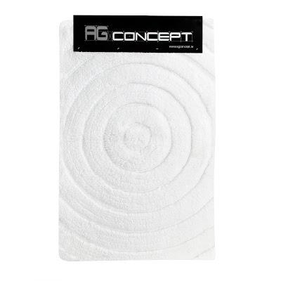 Коврик для ванны Ag concept 60х90 см белый с кругами