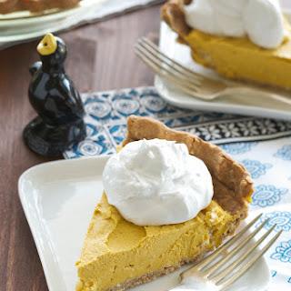 Creamy Pumpkin-Coconut Pie. Sugar- and Oil-free.