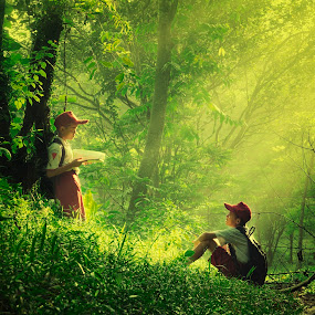 Pre School by Anton Subiyanto - Babies & Children Children Candids ( human interest, children, candid, forest, sunrise, people )