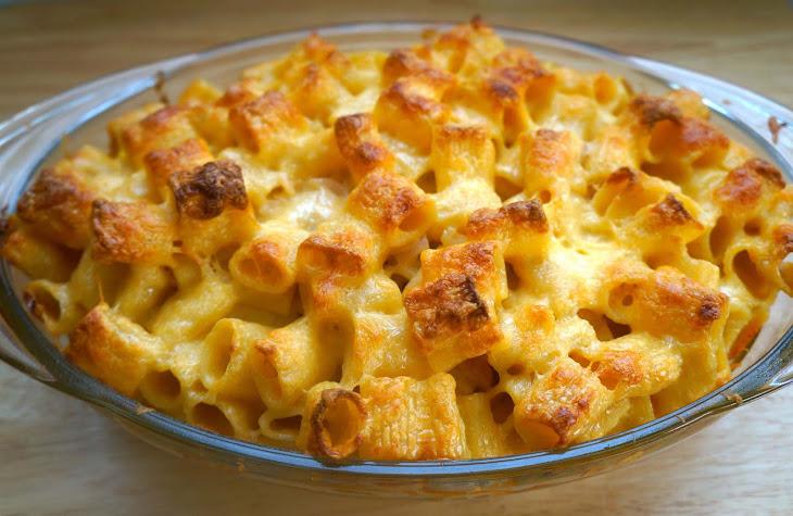 Emeril's Three-Cheese Baked Macaroni Recipes — Dishmaps