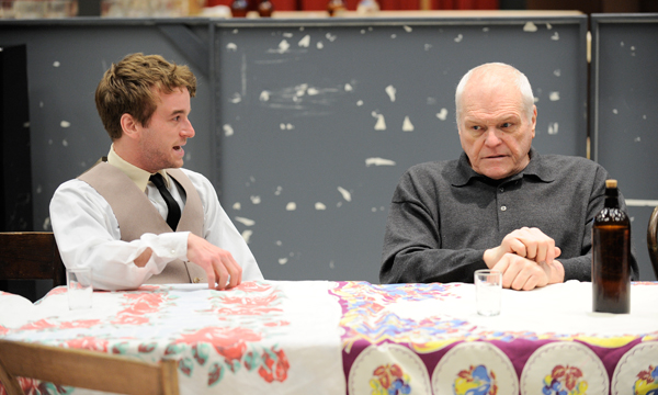 Photo: (Left to right) The young Don Parritt (Patrick Andrews) implores Larry Slade (Brian Dennehy) during a rehearsal of Eugene O'Neill's The Iceman Cometh, directed by Robert Falls, at Goodman Theatre (April 21 – June 17).