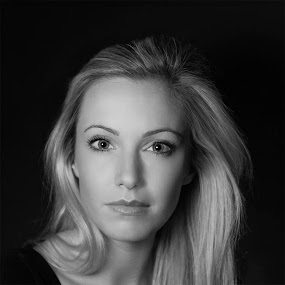 Charlotte 2 by Griff Johnson - People Portraits of Women ( headshot, girl, black and white, actress, portrait, dancer, eyes )