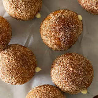 Maple Vanilla Cream Stuffed Chai Doughnuts.