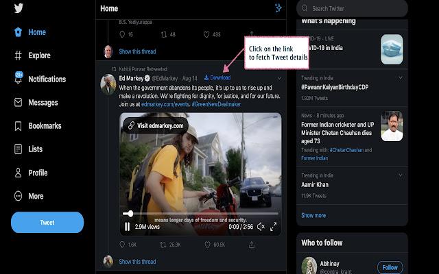 Twitter based video/gif downloader   getTweet